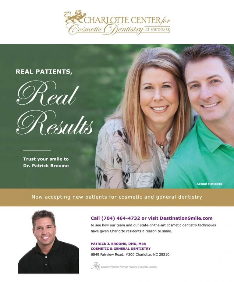 Charlotte Cosmetic Dental Services Ad 768x924 - Print Ads