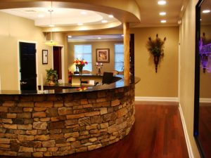 Front Desk of Charlotte Center for Cosmetic Dentistry